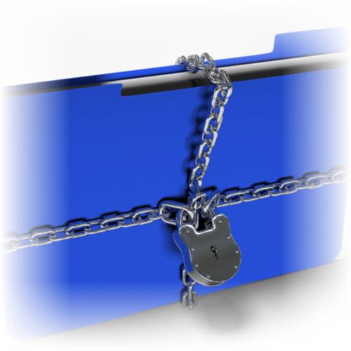 folder with lock hubspot