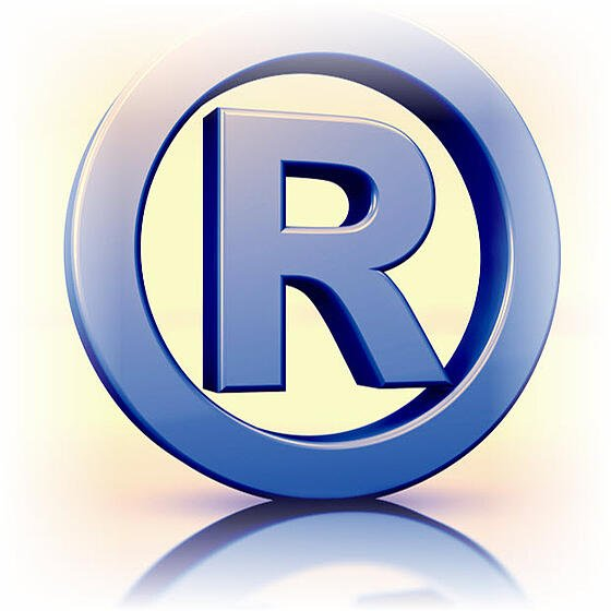 registered trademark symbol cube